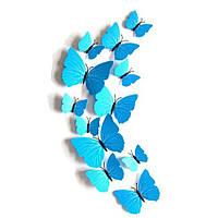 Голубые бабочки для декора 12 штук, фото 1