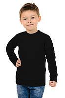 Свитшот Детский на Мальчика Рукав Реглан Чёрный 70% Хлопок 30% Полиэстер S