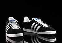 Кроссовки-кеды мужские Adidas Gazelle Black оригинал | Адидас Газель мужские черные