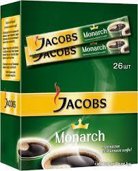 """Кофе """"Якобс"""" растворимый """"Монарх""""  стик 26шт*2г"""