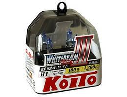 Автолампы Koito WhiteBeam III ☄ 4200K ✔ H1 ✔ 2шт.