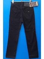 Коттоновые брюки для мальчика темносиние  8-12 лет