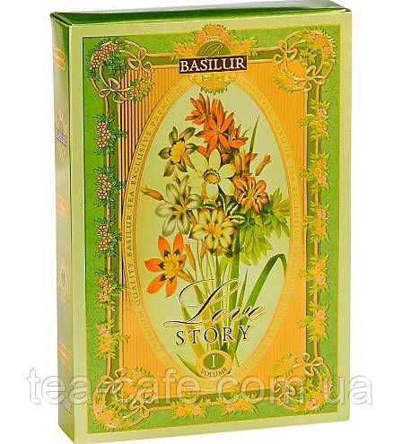 Чай зелёный Basilur История Любви Том 1 картон 75г