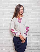 Стильная женская блуза в этническом стиле, белая