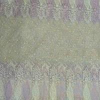 Тюль Фатин сиреневые вензеля, фото 1