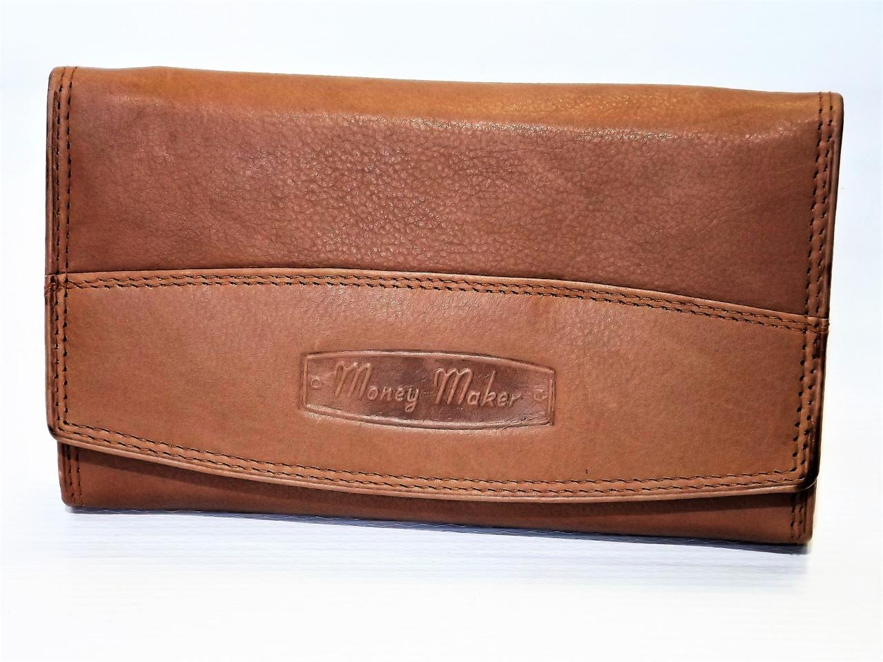 6fb31e5ef9d6 Кошелек женский кожаный Money Maker коричневый Германия - интернет-магазин