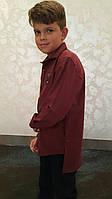 Стильная кашемировая рубашка тёплая на мальчиков 134,146,158,170 роста ELEGANCE