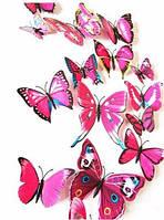 Объемные бабочки для декора розовые. , фото 1