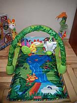Развивающий коврик для малышей 555-2. Прямоугольный с жирафом., фото 3
