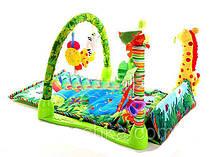 Развивающий коврик для малышей 555-2. Прямоугольный с жирафом., фото 2