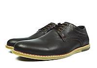 Коричневые мужские кожаные туфли комфорт MULTI SHOES без каблука