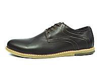Коричневые мужские кожаные туфли MULTI SHOES без каблука, фото 1