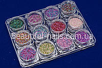 НОВИНКА! Набор бульонок разноцветных, 12 цветов в пластиковом контейнере, фото 1