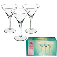 Набор бокалов 220 мл. для мартини 6шт в наборе