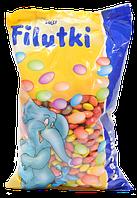Разноцветные шоколадные драже 1 кг Filutki