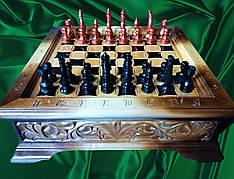 Шахматы - шашки 2 в 1 резные