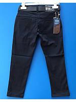Школьные коттоновые брюки для мальчика темносиние  3-7 лет