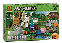 """Конструктор Bela 10468 (Аналог Lego Minecraft 21123) """"Железный голем"""" 220 деталей"""