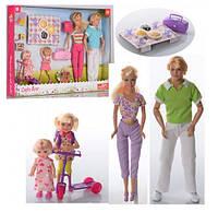Куклы семья DEFA 8301 папа, мама, дочки, набор для пикника