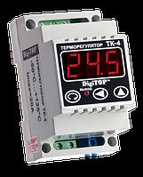Электронный регулятор температуры  тк-4 digitop (с модификациями)  одноканальный на din-рейке