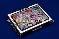 Набор для дизайна ногтей ромбики и конфетти, фото 1