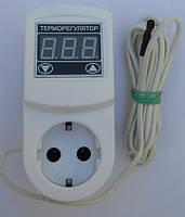 Цифровой высокоточный терморегулятр мтр-2 (16а) с заземлением, двухпороговый, четырёхрежимный, розеточный