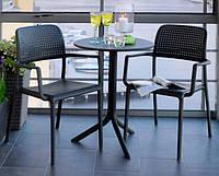 Комплект для кафе  Bora крісла з підлокітниками + столик  Step 60 modern mix color