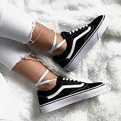 Женские Кеды  Vans Old Skool Black/White