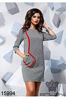 Стильное платье оригинальный дизайн черно-белая клетка Balani (42,44,46)