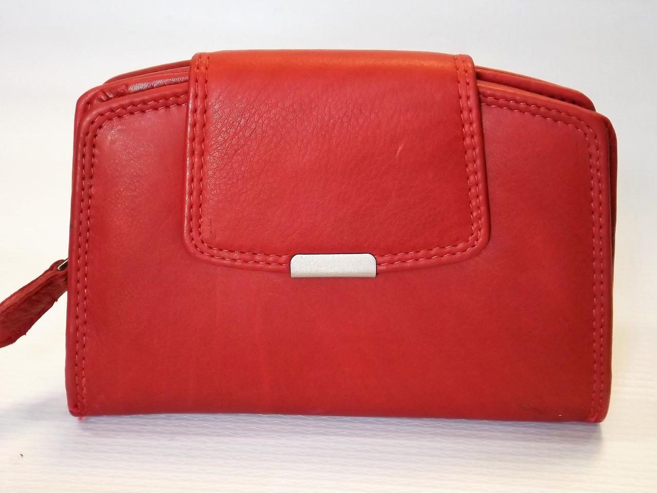 937511db0865 Кожаный кошелек женский MONEY MAKER 510 красный Германия - интернет-магазин