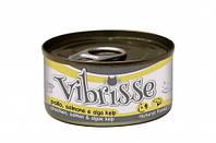 Vibrisse - консервы курица, лосось и водоросли для кошек  70 г
