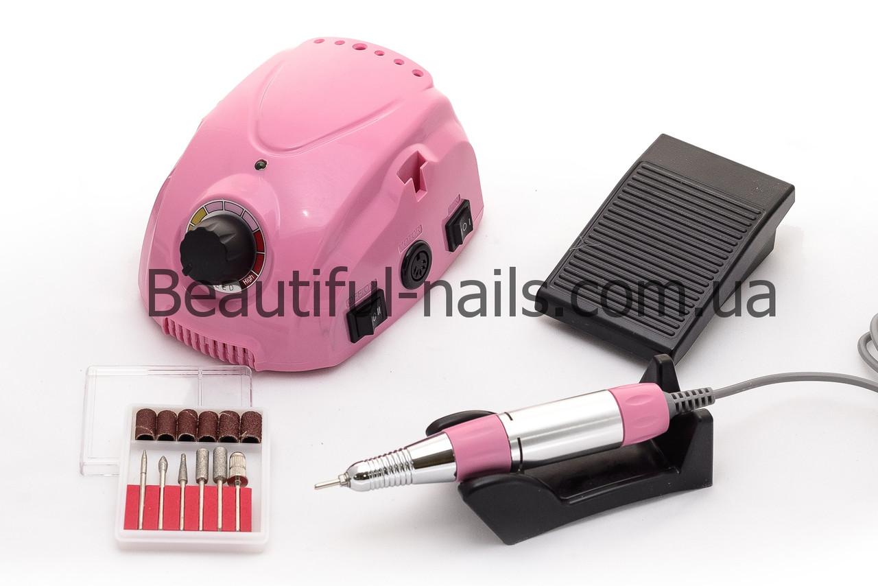 Профессиональный фрезер для маникюра DM-212  на 35 тыс.об/мин 35 ватт(розовый)