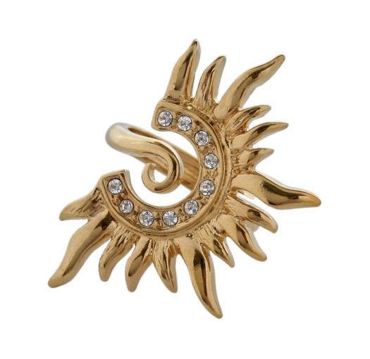 """Кольцо """"Баббара"""" с кристаллами Swarovski, покрытое золотом с родием (e670q000) (Безразмерное)"""