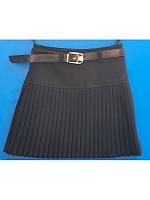 Модная школьная юбка черная  р 116-128