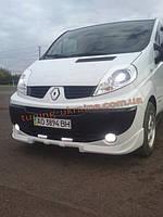 Накладка на передний бампер Renault Trafic 2001-2014
