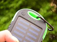 Павер Банк на солнечной батарее 10000 mah Зеленый