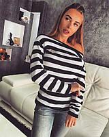 Модный женский полосатый свитер к-45519