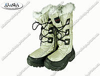 Женские сапоги белые (Код: ЖББ-03)