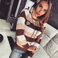Стильная женская кофта с капюшоном у-45521
