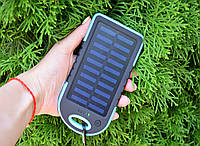 Павер Банк на солнечной батарее 10000 mah Синий