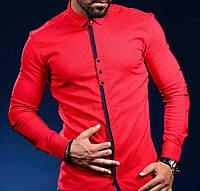 Рубашка с модной планкой на длинный рукав