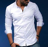 Белая классическая рубашка из хлопка