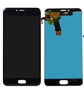 Дисплей (экран) для Meizu M5, M5 mini мейзу + тачскрин, цвет черный