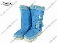 Женские сапоги синие (Код: ЖББ-43), фото 1