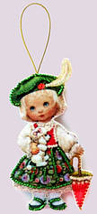 Кукла. Франция из фетра