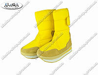 Женские сапоги желтые (Код: ЖББ-46), фото 1