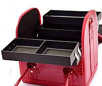 Кейс для косметики, кожаный Красный