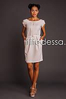 Платье с полуоткрытой спинкой бежевый, фото 1