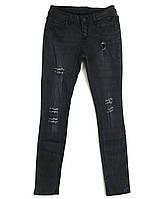 Джинсы женские черные рванка 1924 (25-30, 6 ед.) New jeans