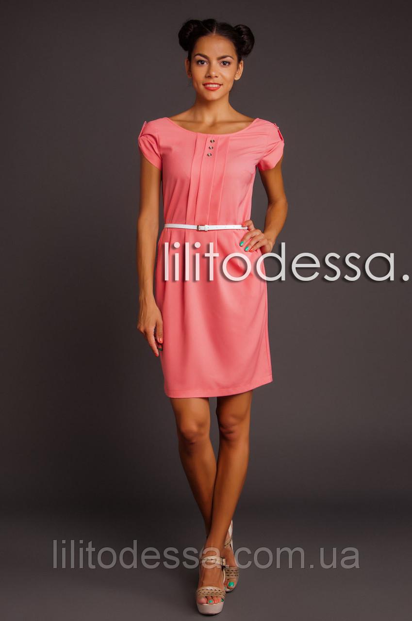 Платье с полуоткрытой спинкой персиковый